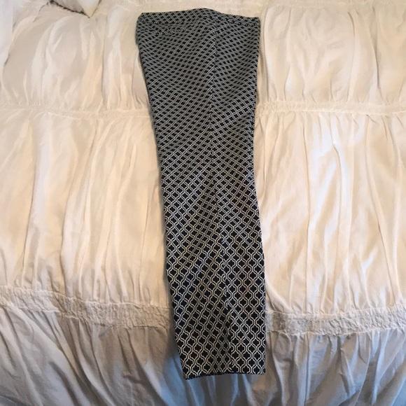 Dalia Pants - Dahlia ankle pants navy print size 2